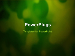 PowerPoint Template - An abstract green background
